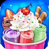 冷冻冰淇淋卷制作游戏